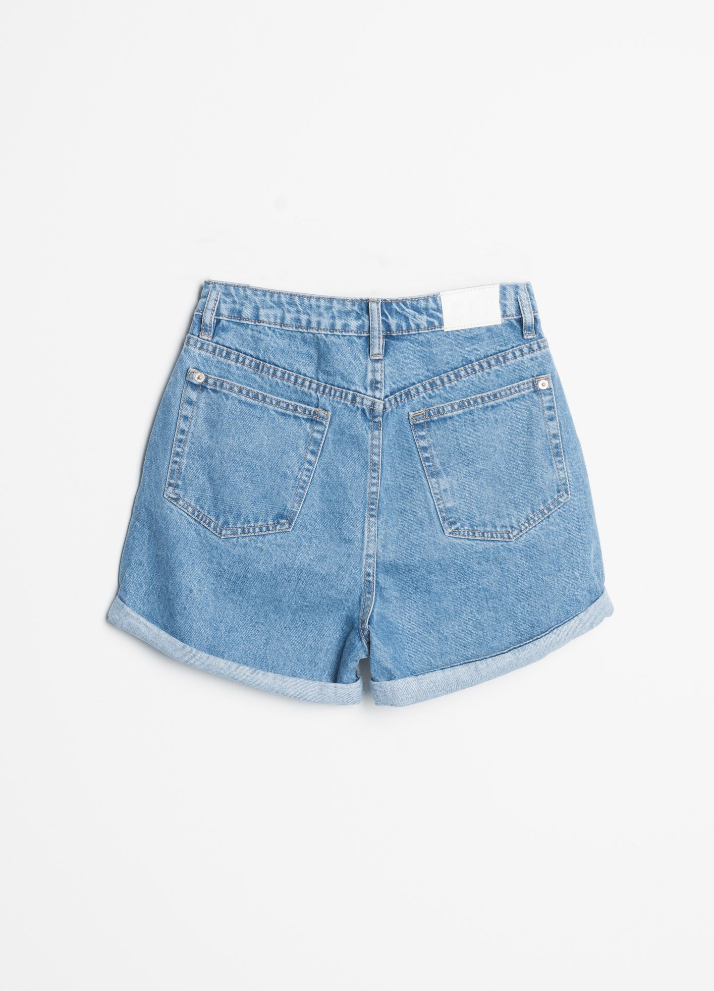MOM FIT JEANS SHORTS