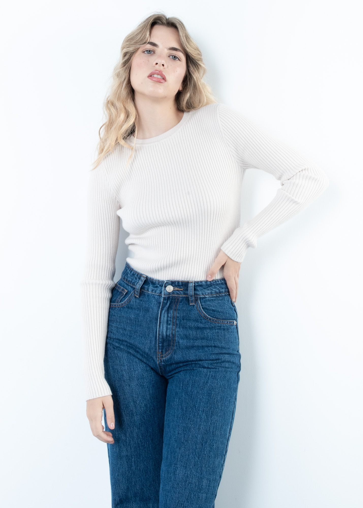 GERIPPTER CROPPED PULLOVER