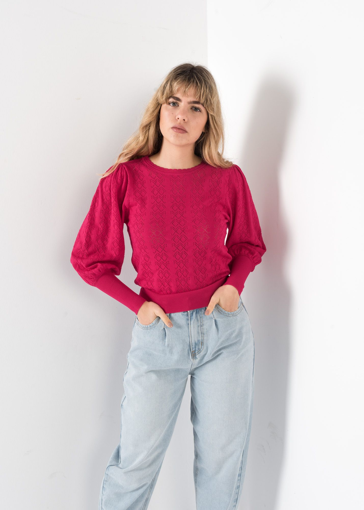 OPEN-KNIT PULLOVER